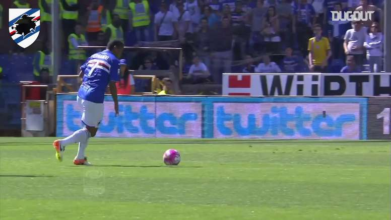 Fernando's equaliser for Sampdoria against Lazio. DUGOUT