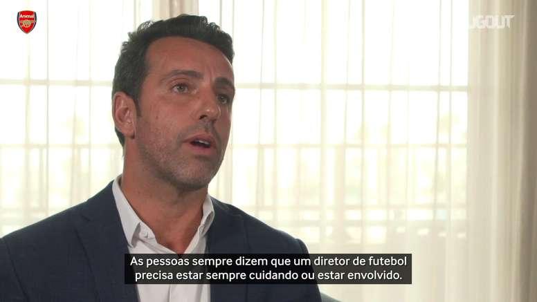 Edu detalha sua função como diretor do Arsenal. DUGOUT