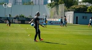 Corinthians treina no CT Joaquim Grava. DUGOUT