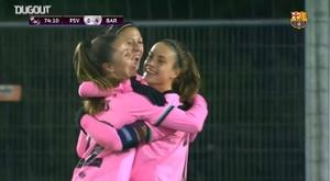 El Barça goleó al PSV por 1-4. DUGOUT