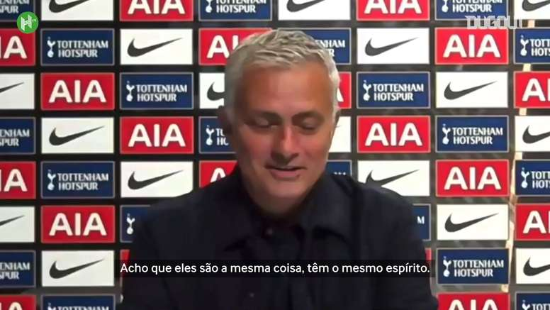 Mourinho exaltou a discussão entre Lloris e Son. DUGOUT