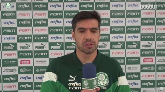 Abel Ferreira concedeu entrevista após derrota para o Flamengo. DUGOUT