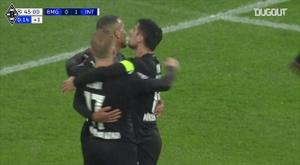 Le doublé d'Alassane Pléa contre l'Inter Milan. Dugout