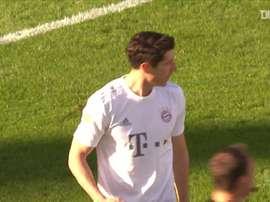 Lewandowski chegou ao seu 27° gol nesta edição da competição. DUGOUT
