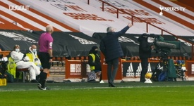 Jose Mourinho was busy on the touchline at Bramall Lane. DUGOUT