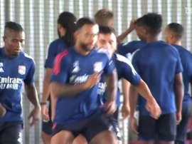 Último treino do Lyon na França. DUGOUT