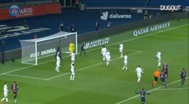 Moise Kean's finish against Brest in Ligue 1. DUGOUT