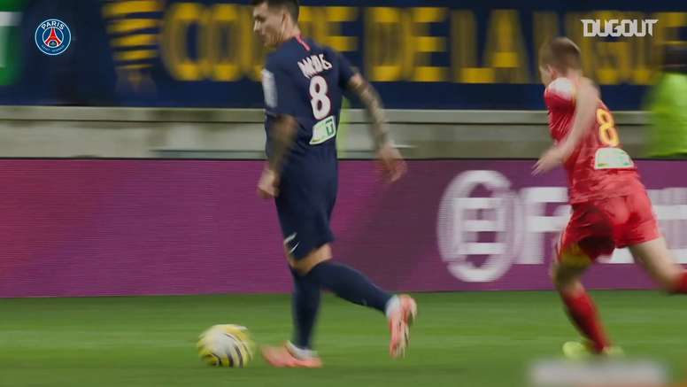Leandro Paredes made 28 appearances for PSG in 2019-20. DUGOUT