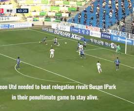 Incheon United miraculously avoided K-League relegation. DUGOUT