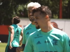 Flamengo's last training session before Goiás clash. DUGOUT