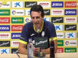 Emery descarta que al Barça le pese el tema extradeportivo. Captura/Dugout