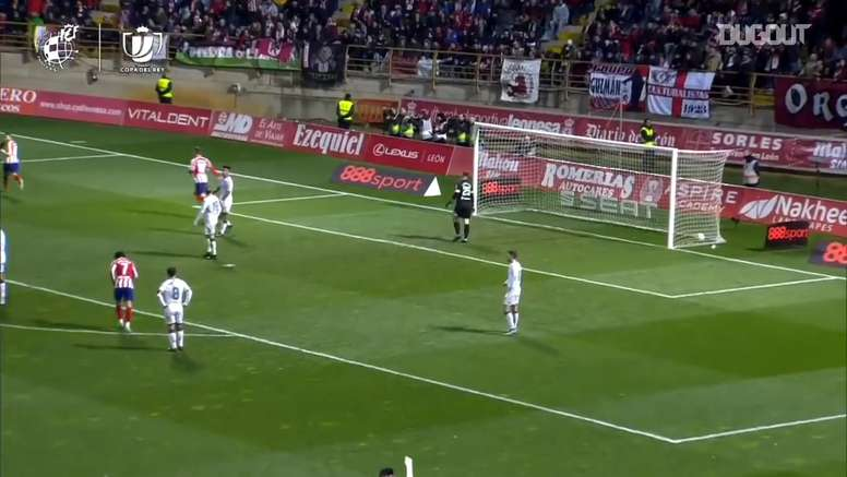 Angel Correa put Atletico ahead, but they ended up losing at Cultural Leonesa. DUGOUT