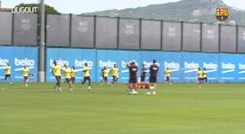 El Barça sigue preparando la Champions. DUGOUT