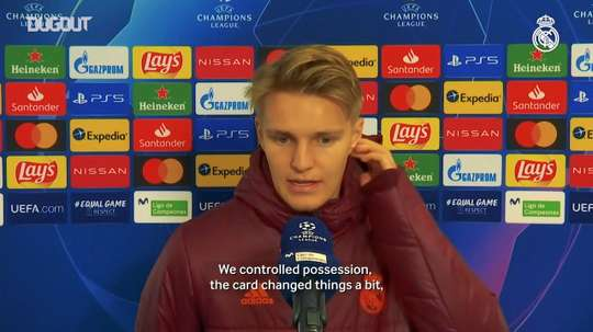 Odegaard adressed the press. DUGOUT