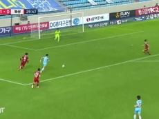 Cesinha faz um golaço contra o Busan IPark. DUGOUT