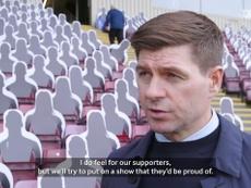 Gerrard talks about the upcoming match. DUGOUT