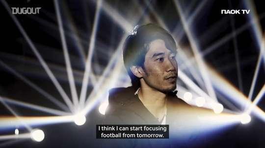 Shinji Kagawa's first PAOK interview. DUGOUT