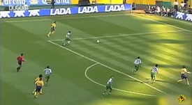 Henry Martín recreó el triplete de Iván Zamorano en su debut con el América. Captura/DUGOUT