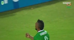 Borja marcou de voleio após cobrança de escanteio contra o Coritiba. DUGOUT