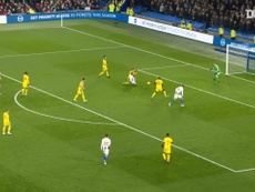 Brighton were 3-0 up at half-time despite having a man sent off. DUGOUT