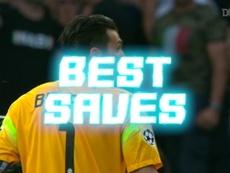 La parata di Buffon su Dani Alves. Dugout