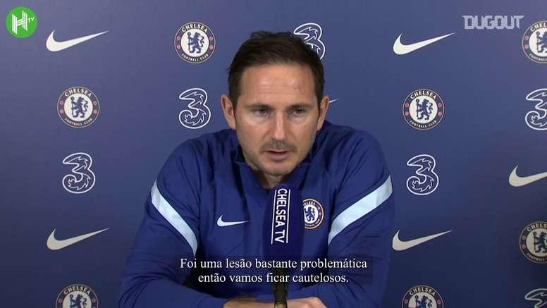 Lampard fala antes do Newcastle-Chelsea. DUGOUT