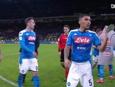Napoli won the first leg 1-0. DUGOUT