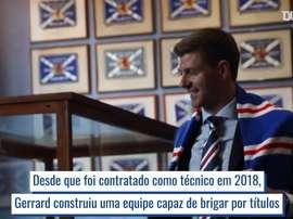 Gerrard assumiu o comando do Rangers em maio de 2018. DUGOUT