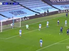 La victoire de Man City contre Porto. dugout