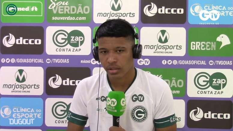 Vinícius Lopes fala sobre clima no Goiás após vitória sobre o Inter. DUGOUT