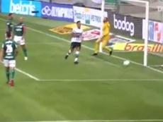 Robson e Giovanni Augusto marcaram os gols do Coritiba contra o Palmeiras. DUGOUT
