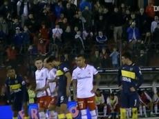 Huracán got a penalty. DUGOUT
