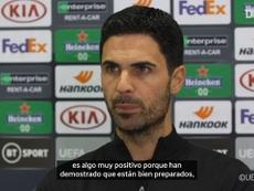 Arteta analizó la victoria ante el Dundalk en Europa League. DUGOUT