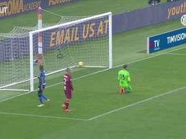 Le but magnifique d'Hakimi contre l'AS Roma. Dugout