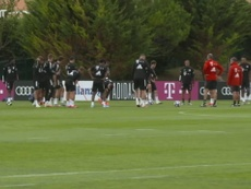 Bayern trained for the Barcelona clash. DUGOUT