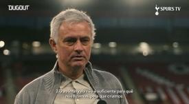 Mourinho comemora vitória, mas alerta. DUGOUT