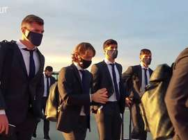 Le Real Madrid arrive en Ukraine. dugout