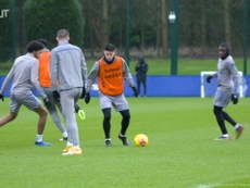 James Rodríguez and Richarlison in Everton training. DUGOUT