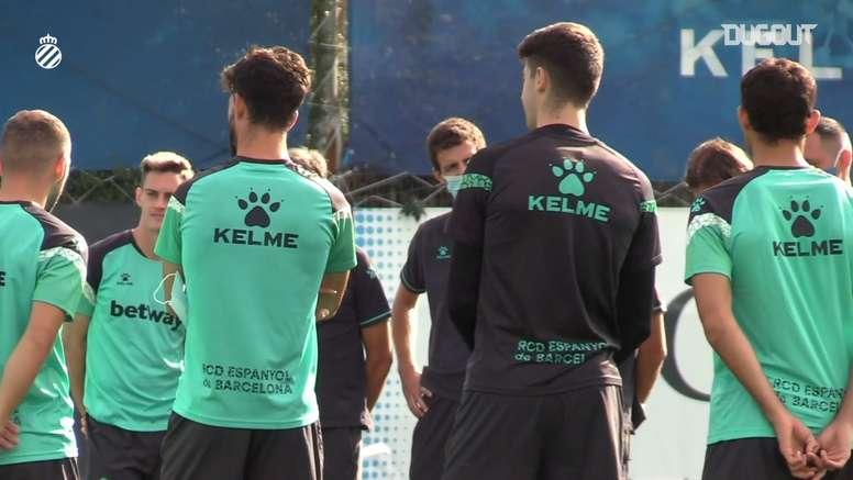 El Espanyol entrenó este jueves en la Ciudad Deportiva Dani Jarque. DUGOUT