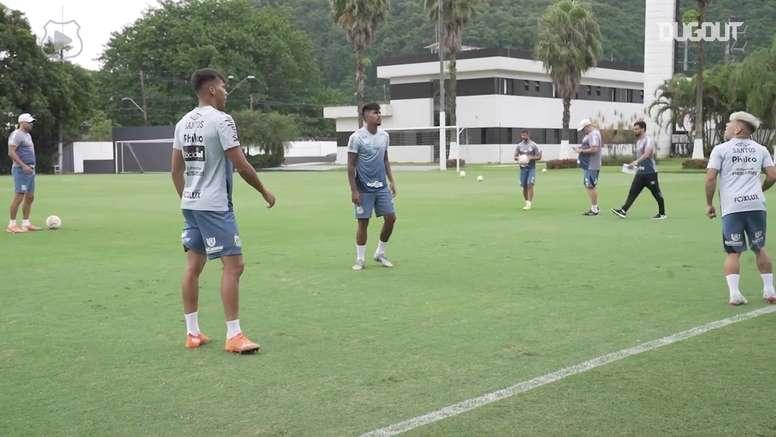 Santos finaliza preparação para semifinal contra o Boca. DUGOUT