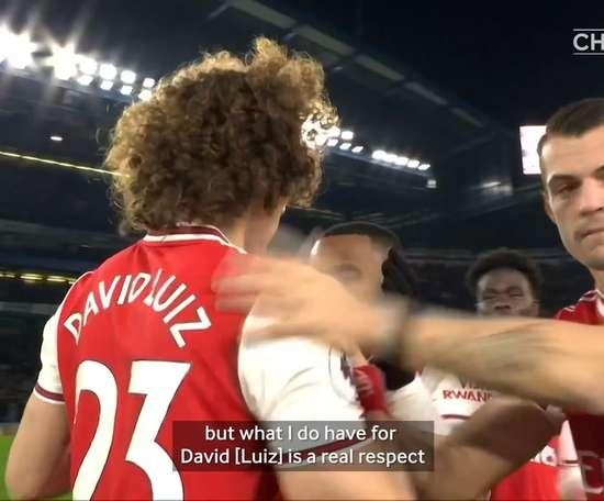 Lampard spoke about Luiz. DUGOUT