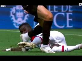 La victoire du Paris Saint-Germain face à Nice. dugout