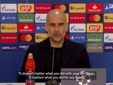 Pep praised Maradona. DUGOUT