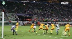 El primer gol de Felipe Melo en Palmeiras. DUGOUT