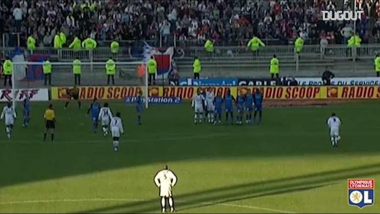 Juninho's great hat-trick vs Auxerre. DUGOUT