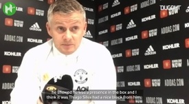 Solskjær happy with Cavani contribution. DUGOUT