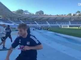 Lyon treina em Portugal para duelo contra o Manchester City. DUGOUT