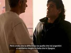 La visita di Maradona al centro di allenamento dell'Inter. DUGOUT