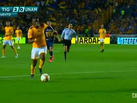 Quinones scored both goals in Tigres' 2-0 victory over Pumas in 2019. DUGOUT