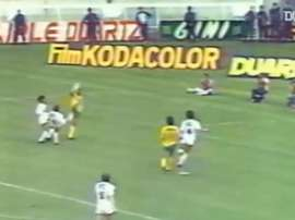 Jose Toure netted an incredible goal for Nantes in the 1983 cup final v PSG. DUGOUT